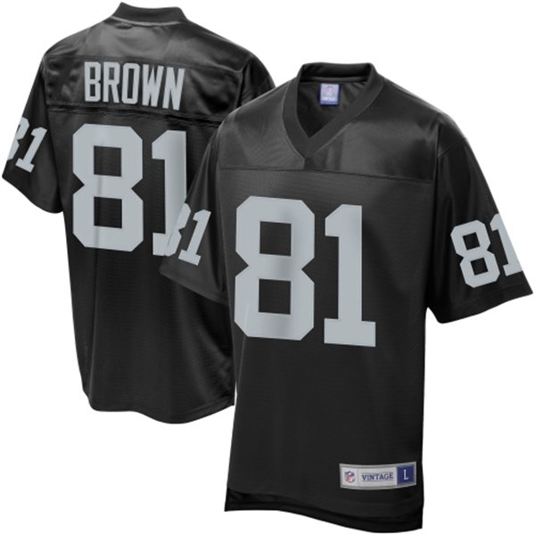 dd8eae18861 ... Oakland Raiders Tim Brown Pro Line Black Retired Player Jersey. thumb
